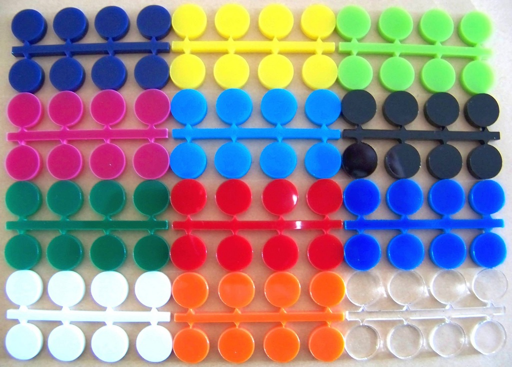 plastic letters colours